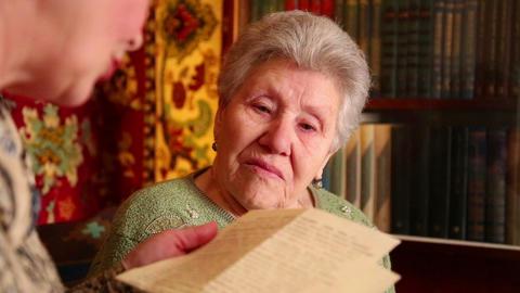 Woman Read Letter Footage