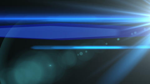 Blue Lens Flare Wipe Element (24fps) Animation