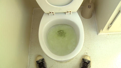 Pee Splatter Flush stock footage