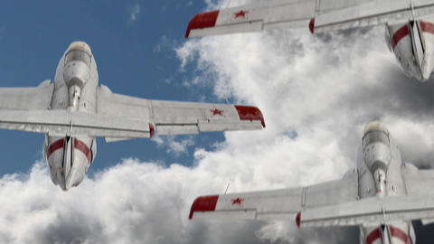 military aircraft in the sky Animation