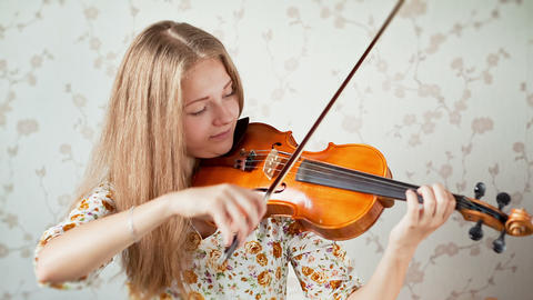 Violinist, Teenager Playing The Violin stock footage