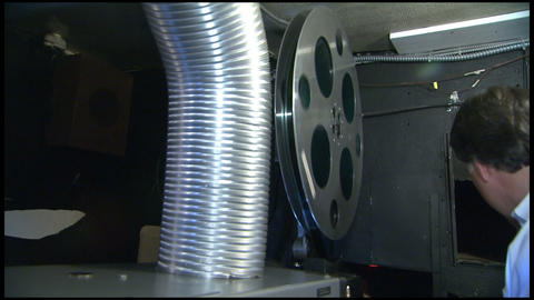Contemporary Movie Projector 1 stock footage