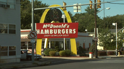 Mc Donalds Fast Food 1 stock footage