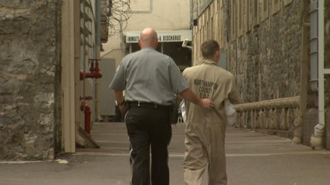 Jail 9 Inmate Walking Footage