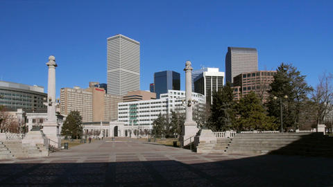 The Heart Of Denver Colorado Pan stock footage