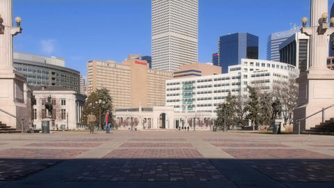 Denver Skyscrapers from Downtown Footage