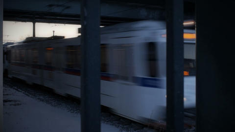 Fast Commuter Trains stock footage