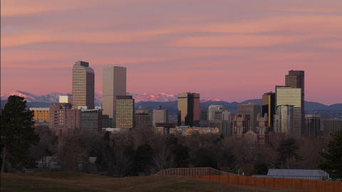 Denver Skyline Zoom Out stock footage