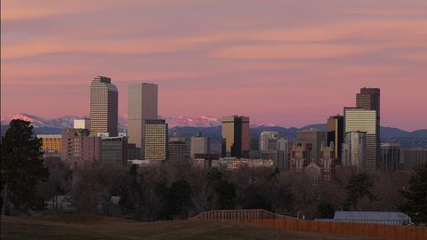 Denver Skyline Zoom Out Footage