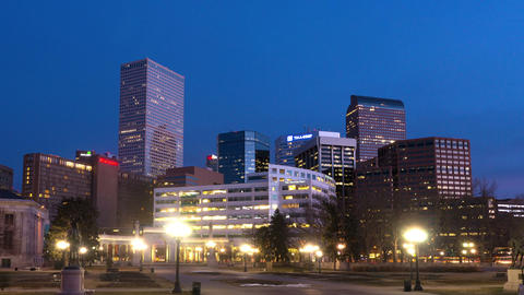 Downtown Denver Before Dawn stock footage
