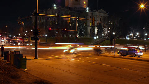 Denver Rush Hour At The Colorado State Capitol stock footage