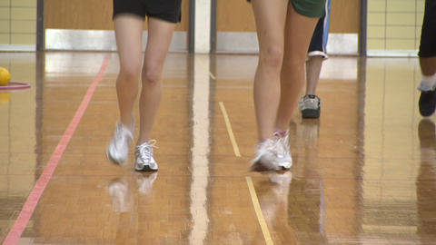 Exercise Gym Class 1 stock footage