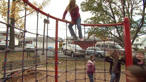 Kids On Playground 3 Footage