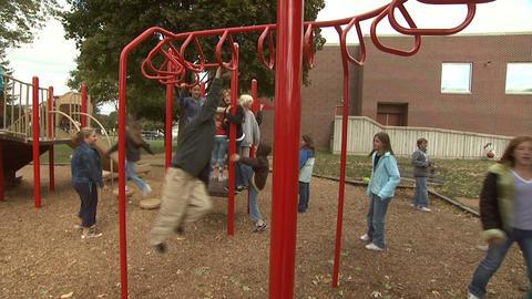 Kids On Playground 5 Footage