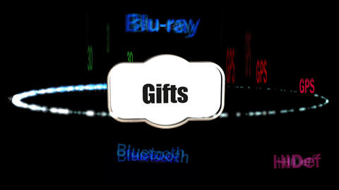 High Tech Gifts, Promotional Animation stock footage