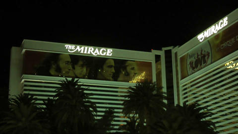 LAS VEGAS - CIRCA 2014: The Mirage Hotel In Las Ve stock footage