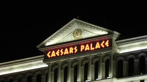 LAS VEGAS - CIRCA 2014: Caesars Palace resort on C Footage