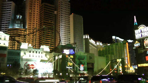 LAS VEGAS - CIRCA 2014: New York-New York hotel ca Footage