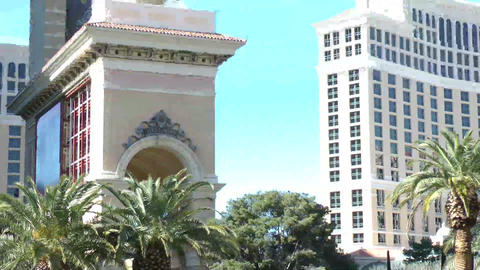 LAS VEGAS - CIRCA 2014: Luxury Hotel Bellagio On C stock footage