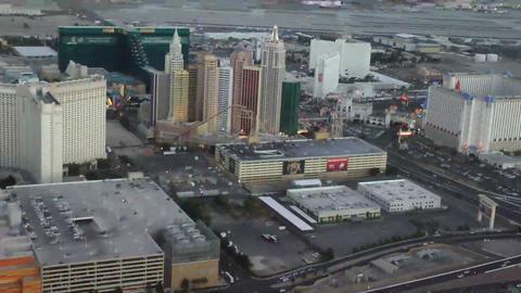 LAS VEGAS - CIRCA 2014: Aerial view of New York Ne Footage
