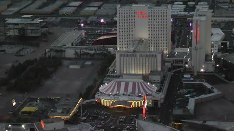 LAS VEGAS, CIRCA 2014: Aerial View of Circus Circu Footage
