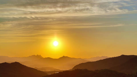 Seoul City 249 Sunset over Beautiful Hills Stock Video Footage