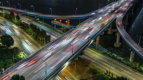 Seoul City 257 Highway Bridge Traffic Footage