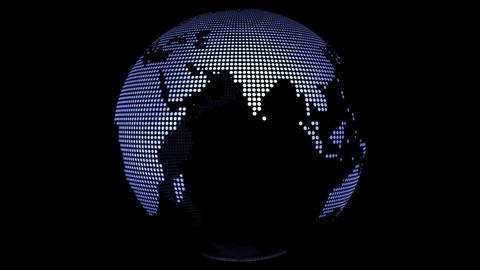 Globe loop rotation Stock Video Footage