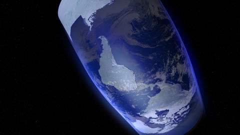 Earth to map Stock Video Footage