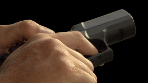 Handgun reloading Stock Video Footage