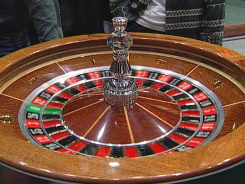 Roulette wheel Stock Video Footage