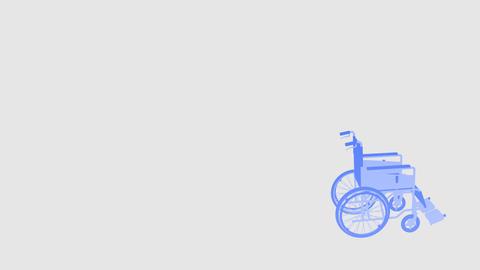 Wheelchair Corner I Stock Video Footage