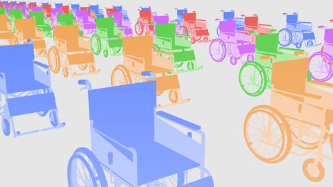 Wheelchair Line1 I Stock Video Footage
