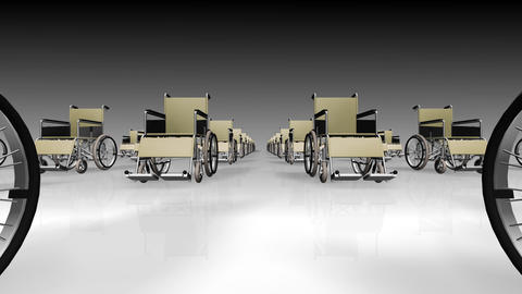 Wheelchair Line2 D Stock Video Footage