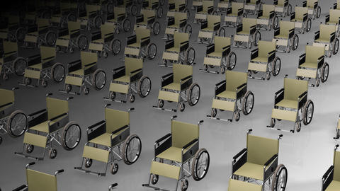 Wheelchair Much2 D Stock Video Footage