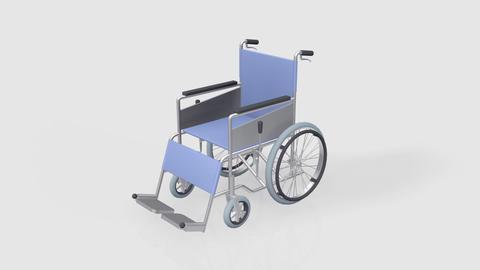 Wheelchair Rotate B Stock Video Footage