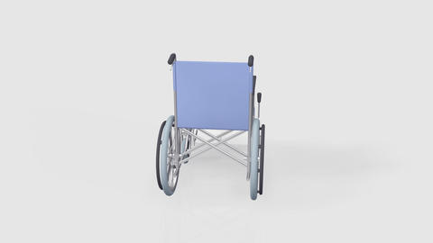 Wheelchair Rotate B Stock Video Footage