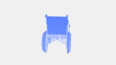 Wheelchair Rotate I Stock Video Footage