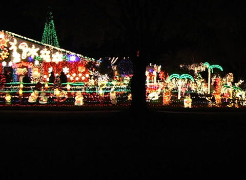 Christmas Light Display (1) Footage