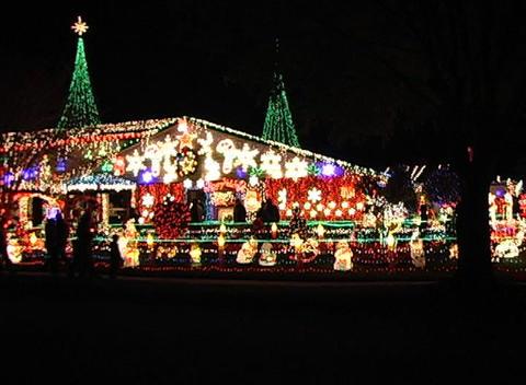 Christmas Light Display (1) Stock Video Footage
