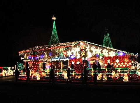 Christmas Light Display (1) Stock Video Footage