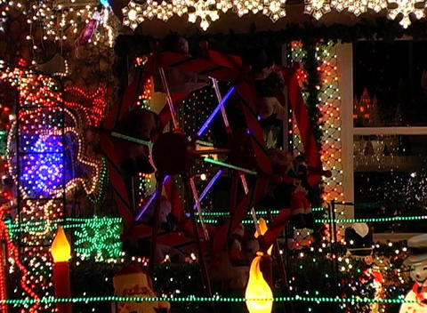 Christmas Light Display (3) Stock Video Footage
