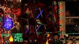 Christmas Light Display (3) stock footage