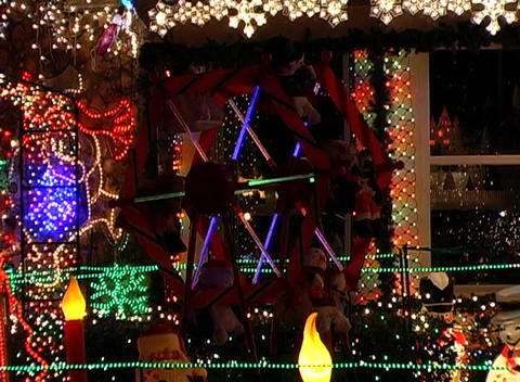Christmas Light Display (3) Footage