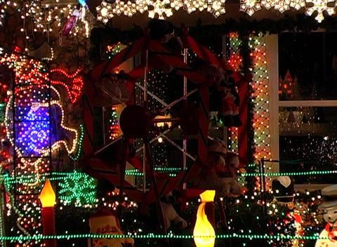 Christmas Light Display (3) Stock Video Footage