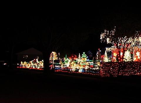 Christmas Light Display (5) Stock Video Footage