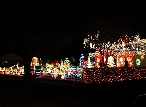 Christmas Light Display (5) Stock Video Footage