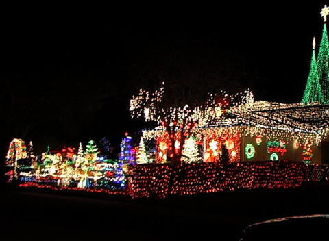 Christmas Light Display (5) Footage