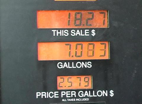 Gasoline Pump (2) stock footage