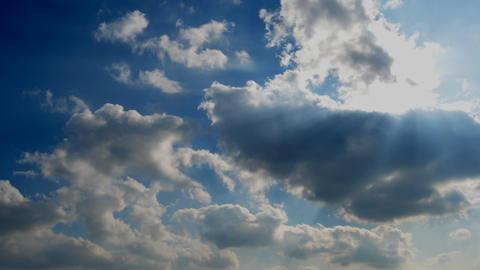 Clouds over blue sky วิดีโอสต็อก